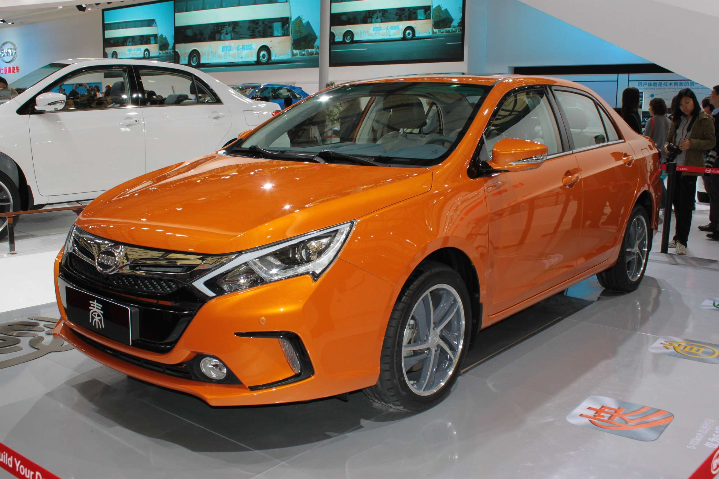 The BYD Qin on display at the Auto Shanghai show on April 21, 2013. (Image Credit: Wikimedia Commons/El monty)