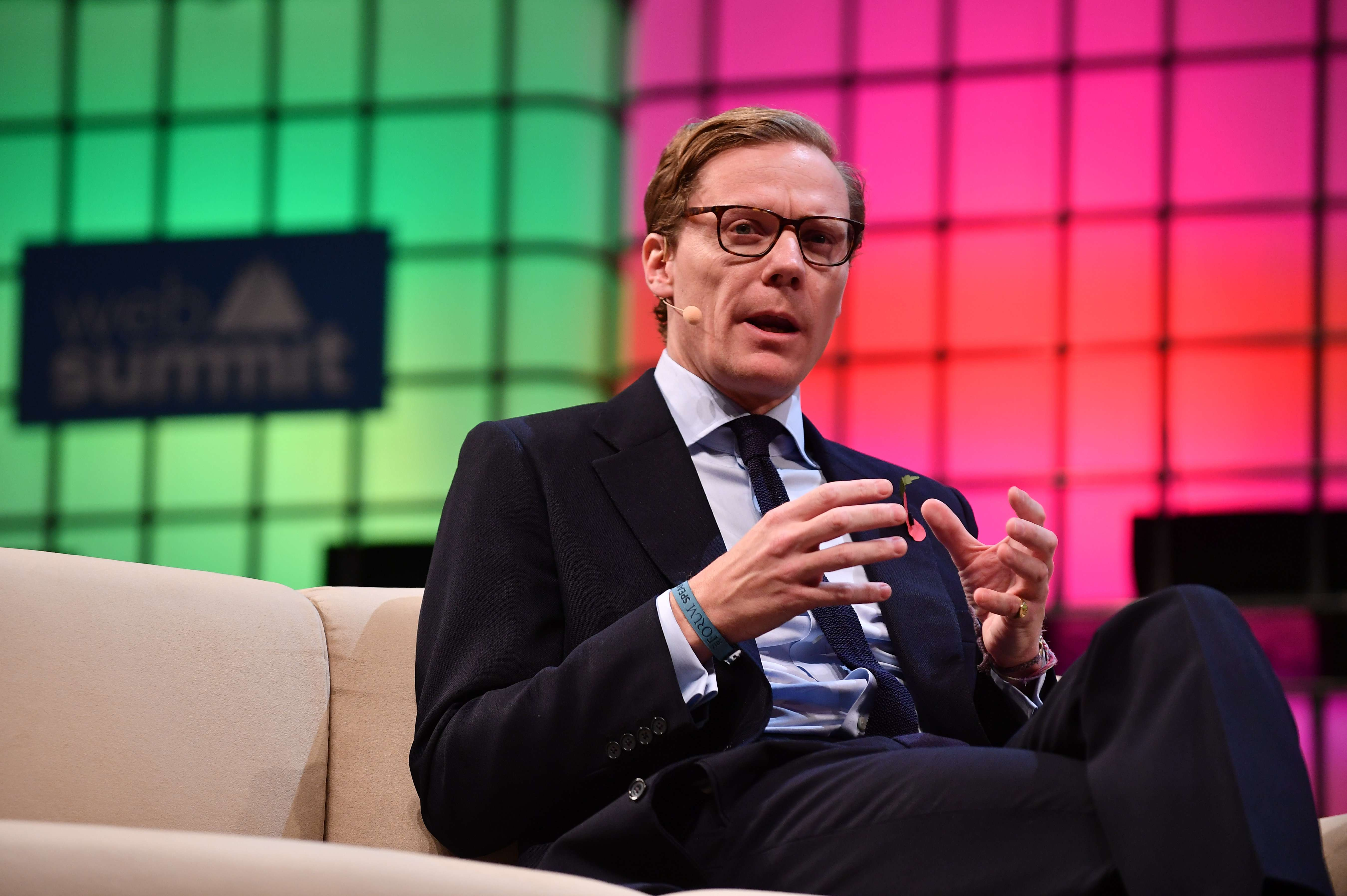 Alexander Nix, CEO, Cambridge Analytica, speaking at the Web Summit 2017 at Altice Arena in Lisbon, Portugal. (Image Credit: Sam Barnes/Web Summit via Sportsfile)