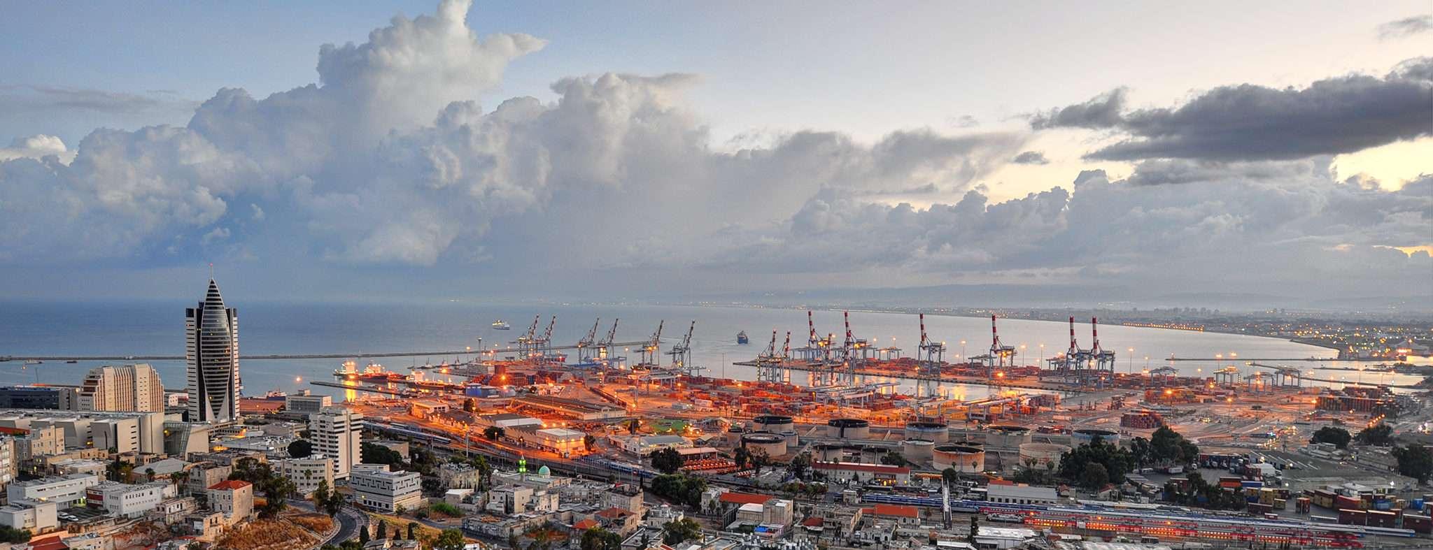 The Sail Tower and Haifa Port in Haifa, Israel. (Image Credit: tsaiproject/Flickr)
