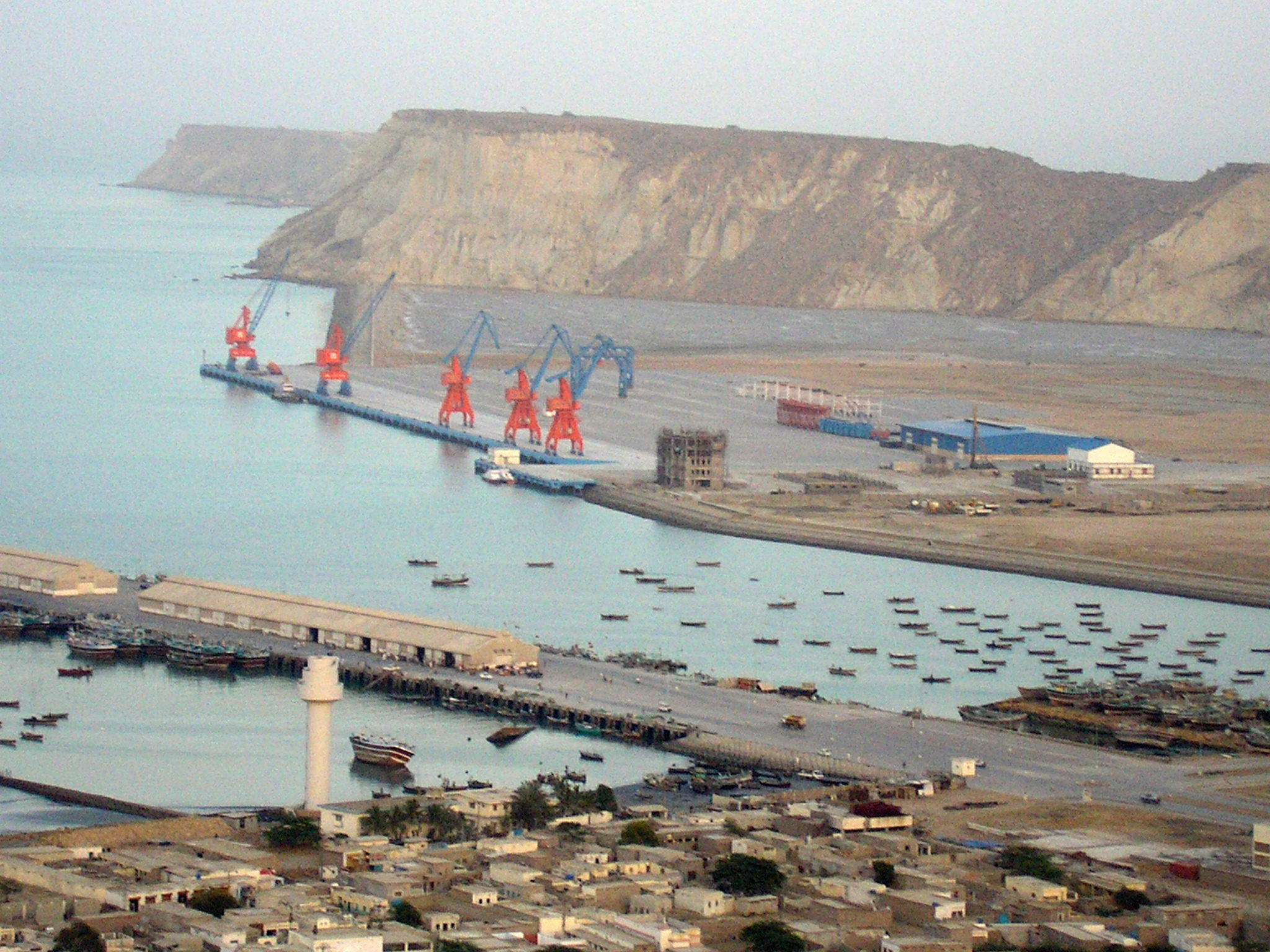 Pakistan's Gwadar Port is one of the major projects of the China-Pakistan Economic Corridor, which is linked to the Belt and Road Initiative. (Image Credit: Paranda/Wikimedia Commons)