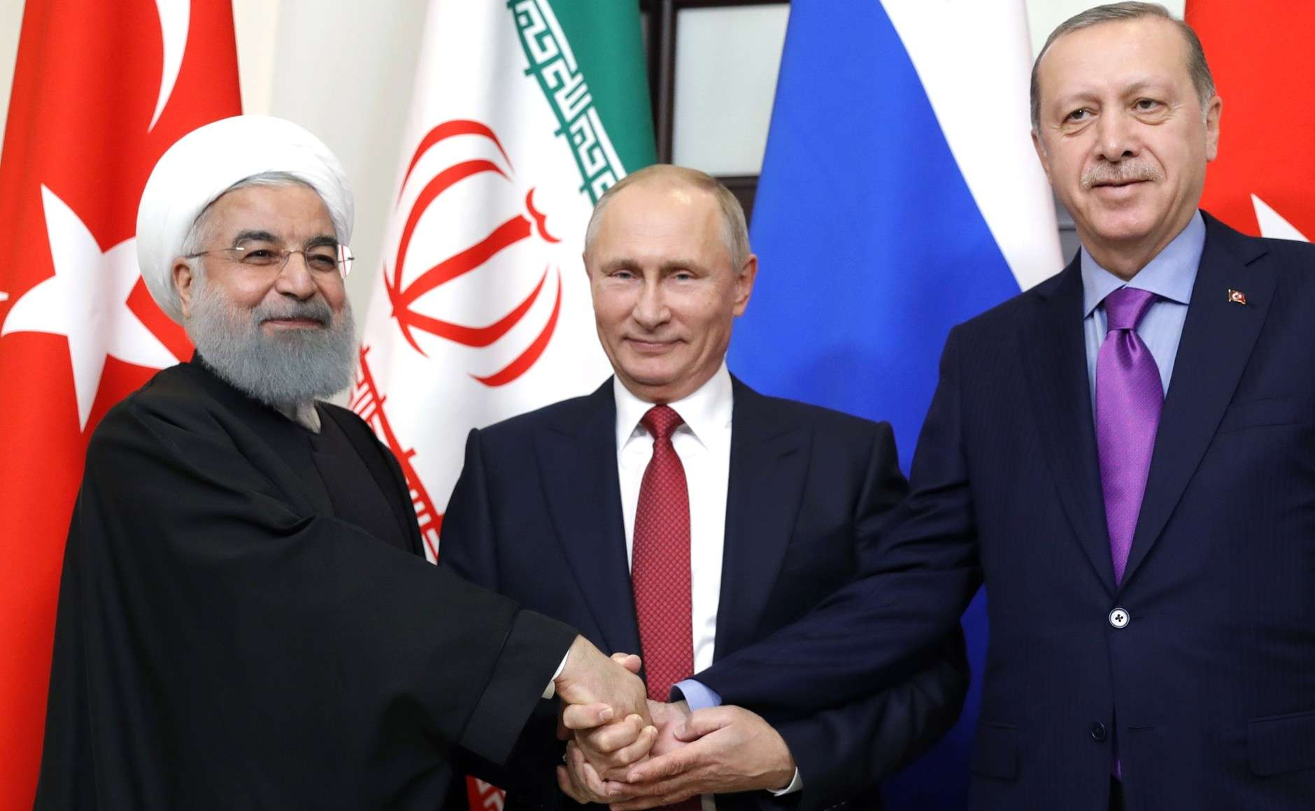 Putin Rouhani Erdogan meeting